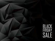 Μαύρο polygonal υπόβαθρο πώλησης Παρασκευής Αγορές Στοκ φωτογραφία με δικαίωμα ελεύθερης χρήσης