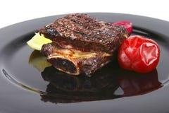 μαύρο roast s πλευρών πιάτων Στοκ εικόνες με δικαίωμα ελεύθερης χρήσης