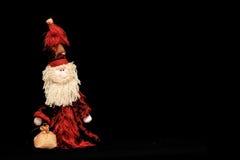 μαύρο santa κουκλών Claus Στοκ Εικόνες