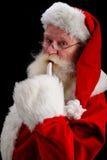 μαύρο santa πορτρέτου στοκ φωτογραφία