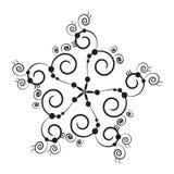 μαύρο snowflake Διανυσματική απεικόνιση