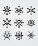 μαύρο snowflake Ελεύθερη απεικόνιση δικαιώματος