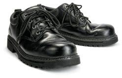 Μαύρο Steeltoe Workshoes Στοκ Εικόνες