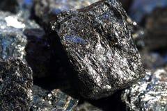 Μαύρο tourmaline ένα κρύσταλλο aquamarine Στοκ εικόνα με δικαίωμα ελεύθερης χρήσης