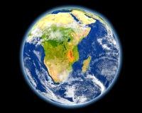 Μαλάουι στο κόκκινο από το διάστημα Στοκ Εικόνα