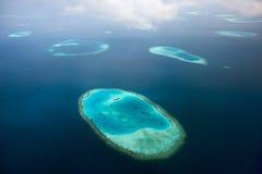 Μαλδίβες άνωθεν Στοκ φωτογραφία με δικαίωμα ελεύθερης χρήσης