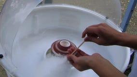 Μαλλί ζάχαρης απόθεμα βίντεο