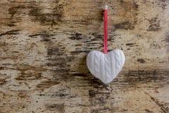 μαλλί πλεξίματος καρδιών Στοκ φωτογραφίες με δικαίωμα ελεύθερης χρήσης