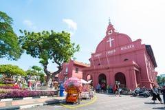 Μαλαισία - 10 Φεβρουαρίου 2017:: Κόκκινο ορόσημο εκκλησιών Χριστού των μελ Στοκ φωτογραφία με δικαίωμα ελεύθερης χρήσης