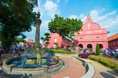 Μαλαισία - 10 Φεβρουαρίου 2017:: Κόκκινο ορόσημο εκκλησιών Χριστού Mela Στοκ φωτογραφία με δικαίωμα ελεύθερης χρήσης