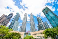 Μαλαισία - 12 Φεβρουαρίου 2017:: Σύμβολο πύργων Petronas της Κουάλα lum Στοκ Φωτογραφία