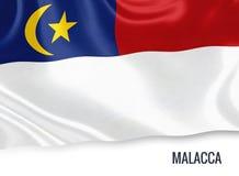Μαλαισιανή κρατικό Malacca σημαία Στοκ φωτογραφία με δικαίωμα ελεύθερης χρήσης