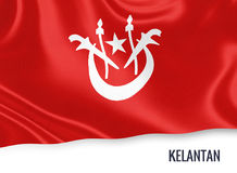 Μαλαισιανή σημαία κρατικού Kelantan Στοκ Φωτογραφίες