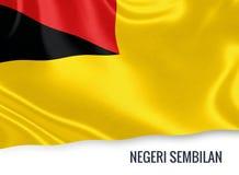 Μαλαισιανή σημαία κρατικού Negeri Sembilan Στοκ Εικόνες