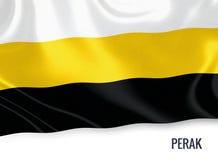 Μαλαισιανή σημαία κρατικού Perak Στοκ Φωτογραφίες