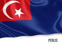 Μαλαισιανή σημαία κρατικού Perlis Στοκ Εικόνα