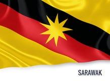 Μαλαισιανή σημαία κρατικού Sarawak Στοκ εικόνα με δικαίωμα ελεύθερης χρήσης