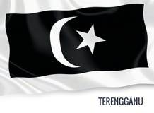 Μαλαισιανή σημαία κρατικού Terengganu Στοκ φωτογραφία με δικαίωμα ελεύθερης χρήσης
