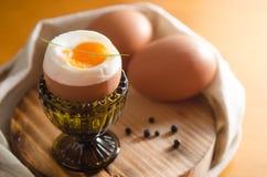 Μαλακά βρασμένα αυγά Στοκ φωτογραφίες με δικαίωμα ελεύθερης χρήσης