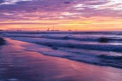 Μαλακά πορφυρά κύματα Στοκ Εικόνα