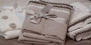 Μαλακές πετσέτες υφασμάτων Στοκ Εικόνες