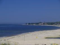 Μαλακή ακτή παραλιών άμμου Στοκ Εικόνες