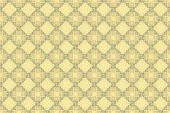 Μαλακή ασιατική αραβική διακοσμητική ταπετσαρία Cappuccino κρέμας διανυσματική απεικόνιση