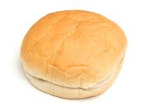 Μαλακός άσπρος ρόλος ψωμιού που απομονώνεται στο λευκό Στοκ Φωτογραφία