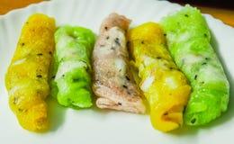 Μαλακός ταϊλανδικός ρόλος τηγανιτών αλευριού ρυζιού Στοκ Εικόνες