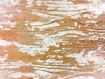 Μαλακό βρώμικο αφηρημένο ξύλινο σιτάρι τέχνης τοίχων watercolor μινιμαλιστικό Στοκ Εικόνες