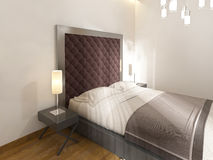 Μαλακό, γεμισμένο headboard, Burgundy χρώμα διανυσματική απεικόνιση