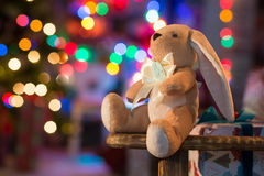 Μαλακό παιχνίδι στο εσωτερικό Χριστουγέννων Στοκ φωτογραφία με δικαίωμα ελεύθερης χρήσης