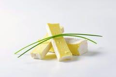 Μαλακό τυρί με το λεπτό άσπρο φλοιό Στοκ Εικόνες