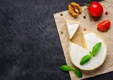 Μαλακό τυρί της Brie με το διάστημα αντιγράφων Στοκ φωτογραφία με δικαίωμα ελεύθερης χρήσης