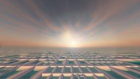 Μαλακό υπόβαθρο ήλιων τεχνολογίας πλέγματος διανυσματική απεικόνιση