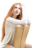 μαλλιαρό κόκκινο κοριτσ&i Στοκ εικόνα με δικαίωμα ελεύθερης χρήσης
