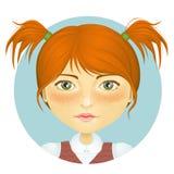 μαλλιαρό κόκκινο κοριτσ&i Στοκ φωτογραφίες με δικαίωμα ελεύθερης χρήσης