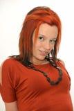 μαλλιαρό κόκκινο πορτρέτ&omicro Στοκ Φωτογραφία