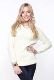 μαλλιαρό μακρύ πουλόβερ &kappa Στοκ Εικόνες