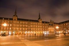Μαδρίτη - δήμαρχος Plaza στο σούρουπο πρωινού Στοκ Εικόνα