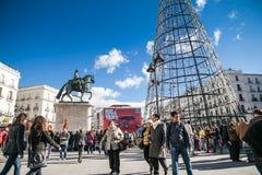 Μαδρίτη για τα Χριστούγεννα Στοκ φωτογραφίες με δικαίωμα ελεύθερης χρήσης