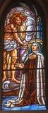 Μαδρίτη - Ιησούς και HL. Theresia από την εκκλησία των HL. Theresia Στοκ Φωτογραφίες