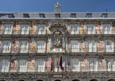 Μαδρίτη Ισπανία: Δήμαρχος Plaza Στοκ φωτογραφία με δικαίωμα ελεύθερης χρήσης