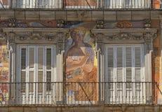 Μαδρίτη Ισπανία: Δήμαρχος Plaza Στοκ εικόνες με δικαίωμα ελεύθερης χρήσης