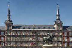 Μαδρίτη Ισπανία: Δήμαρχος Plaza Στοκ Φωτογραφία