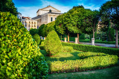 Μαδρίτη, Ισπανία: η Royal Palace, Palacio πραγματικό de Μαδρίτη Στοκ Εικόνα