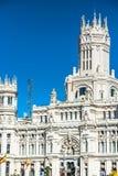 Μαδρίτη, 27.2015 Ισπανία-Μαΐου: Παλάτι και πηγή Cibeles στο Pla Στοκ φωτογραφίες με δικαίωμα ελεύθερης χρήσης