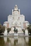 Μαδρίτη - μνημείο Θερβάντες σε Plaza Espana Στοκ φωτογραφίες με δικαίωμα ελεύθερης χρήσης