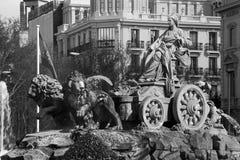 Μαδρίτη - μορφή Plaza de Cibeles πηγών Στοκ φωτογραφία με δικαίωμα ελεύθερης χρήσης