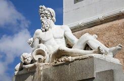 Μαδρίτη - Ποσειδώνας από το Philip IV του μνημείου της Ισπανίας Στοκ Εικόνα